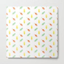 Popsicle pattern Metal Print