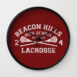 Beacon Hills Lacrosse Wall Clock