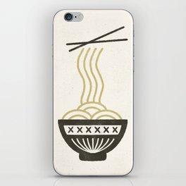 Noodle Bowl Black Cream iPhone Skin