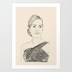 Kate Winslet Portrait Art Print