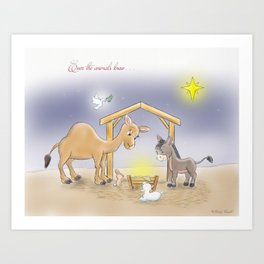 Even The Animals Knew... Art Print