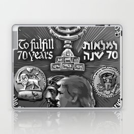Trump Israel 70th Anniversary Temple Coin Art (Front Side) Laptop & iPad Skin