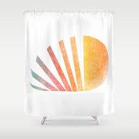 ed sheeran Shower Curtains featuring Raising sun (rainbow-ed) by Picomodi