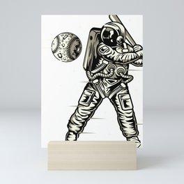 Space Baseball Astronaut Mini Art Print