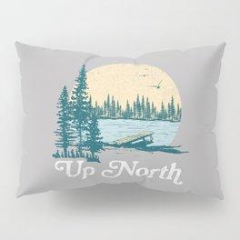 Vintage Retro Up North Lake Pillow Sham