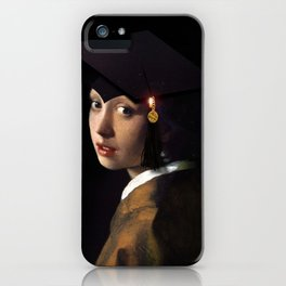 Girl with the Grad Cap iPhone Case