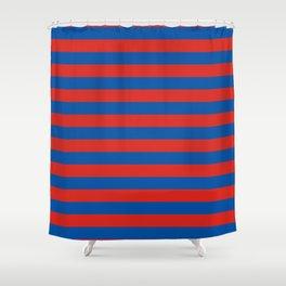 Haiti Paris flag stripes Shower Curtain