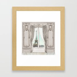 Eiffel Tower room with a view Framed Art Print
