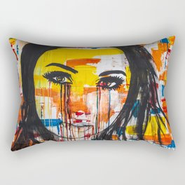 The unseen emotions of her innocence Rectangular Pillow
