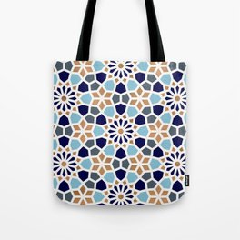 Persian Mosaic – Blue & Gold Palette Tote Bag