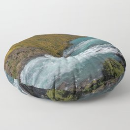 Glacial River Patagonia Floor Pillow