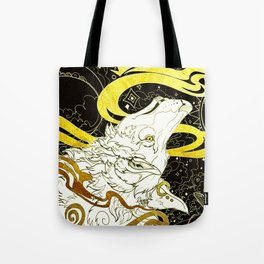 Golden wolf Tote Bag