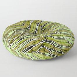 Green Leafy Zen Leaf Floor Pillow