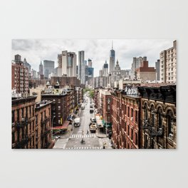 New York City Skyline (Brooklyn, Queens, Manhattan) Canvas Print