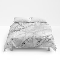 Comforters featuring Marble by Patterns and Textures