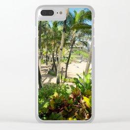 Kuau Beach Cove Paia Maui Hawaii Clear iPhone Case