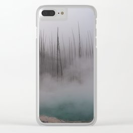 Steamy Hot Spring in Yellowstone Clear iPhone Case