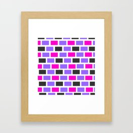 Building pattern Framed Art Print