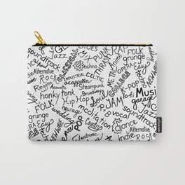 Music Genre Typographic Design Carry-All Pouch