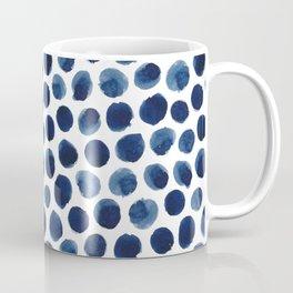 Indigo Polka Dot Coffee Mug