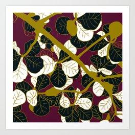 Modern batik Art Print