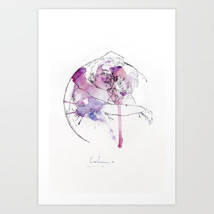 Discover the motif CIRCLES - BROTHERS by Agnes Cecile as a print at TOPPOSTER