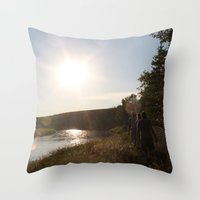 camping Throw Pillows featuring Camping by RMK Photography