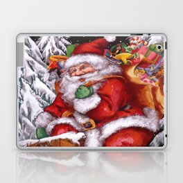 Santa Claus coming down Chimney Laptop & iPad Skin