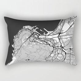 Cape Town Map Gray Rectangular Pillow