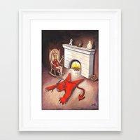devil Framed Art Prints featuring Devil by menekse cam