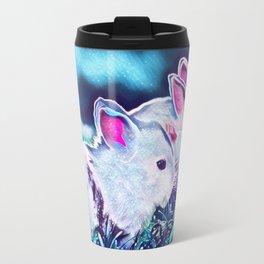 Night Time Dwarf Bunnies Travel Mug
