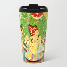 The cup of Rosalia | Full of fairy tales | Painting by Elisavet Travel Mug