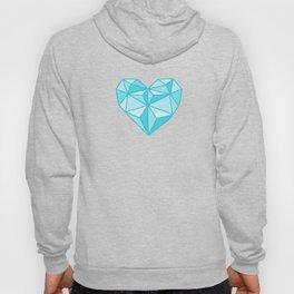 Geometric Diamond Heart - Topaz Hoody