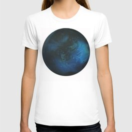 Blue Planet on White Background T-shirt