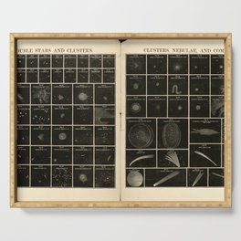 Double Stars and Clusters; Cluster, Nebulae and Comets (1856) Serving Tray