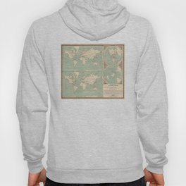 Vintage World Isotherm Map (1850) Hoody