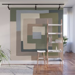 Abstract Neutrals Wall Mural