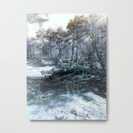 Icy Forest Metal Print