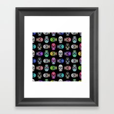 I love your Robotic Skull Heart on Black Framed Art Print
