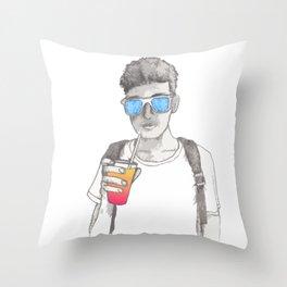 Summer boy Throw Pillow