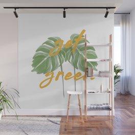 Get Green Monstera Plant Wall Mural