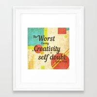 sylvia plath Framed Art Prints featuring Inspirational Quote Sylvia Plath by Divya Tak