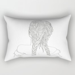 Woman with braids Rectangular Pillow