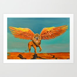 The Conquering Lion Art Print