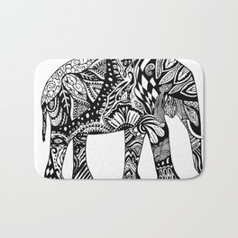 Elephant in the Room Bath Mat