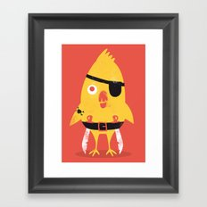 Pirate Chick Framed Art Print