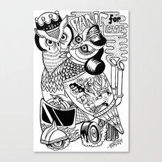 panic for love Canvas Print