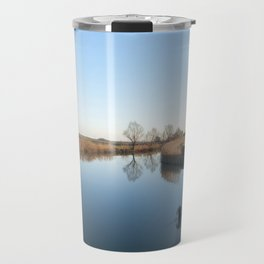 A blue river landscape Travel Mug