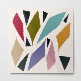 Rombi e triangoli Metal Print