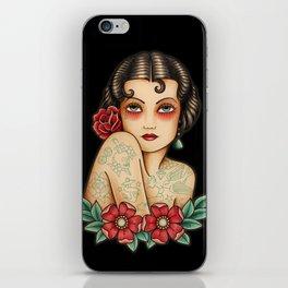The tattooed woman iPhone Skin